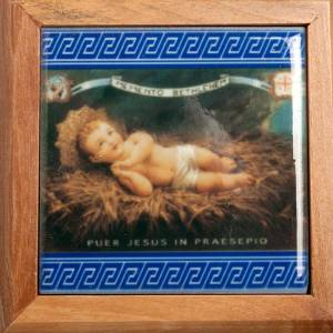 Rosary cases: Rosary Case, olive wood made, Baby Jesus