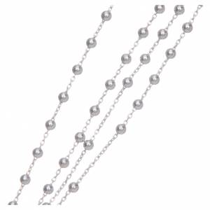 Rosary Necklace AMEN classic silver 925, Rhodium finish s4