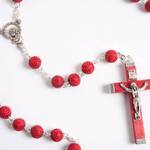 Rose-scented inlayed rosary 2