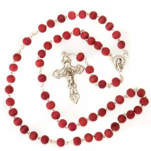 Rose-scented rosary with metal cross s2