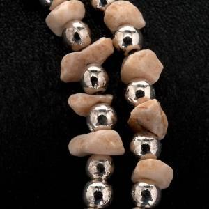 Sonstige Armbände: Rosenkranz Armband Medjugorje Perlen und Stein