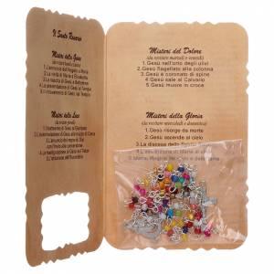 preiswerte Rosenkränze: Rosenkranz mit Karte Wündertätige, Geheimnisse