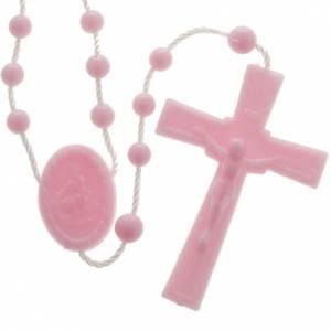 preiswerte Rosenkränze: Rosenkranz rosafarben Nylon