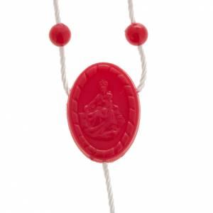 preiswerte Rosenkränze: Rosenkranz rot Nylon
