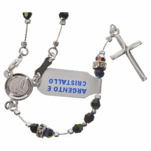 Silber Rosenkränze: Rosenkranz Silber 800 schwarzen Kristall
