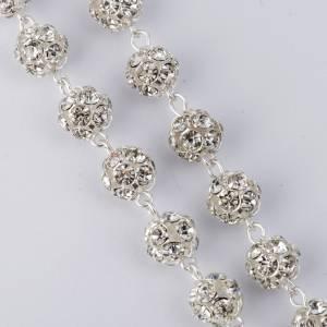 Silber Rosenkränze: Rosenkranz Silber 800 mit Strass Perlen