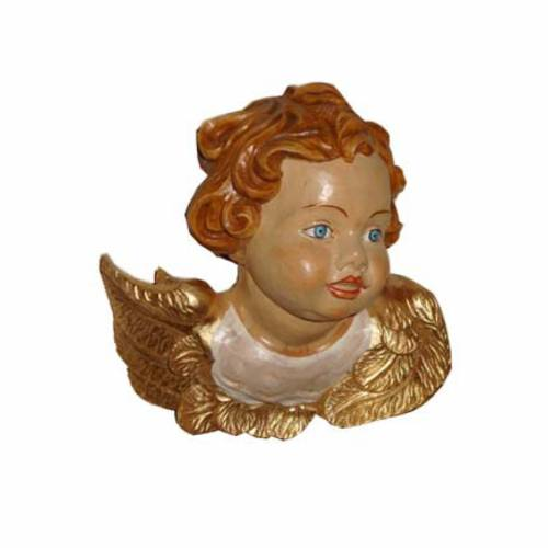 Rostro de ángel madera pintada 2