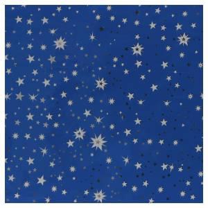 Sfondi presepe, paesaggi e pannelli: Rotolo cielo stellato argento 70x100 presepe