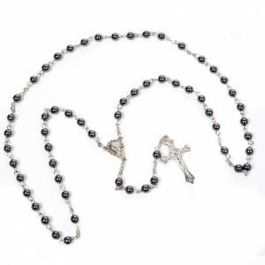 Round beads hematite rosary s4