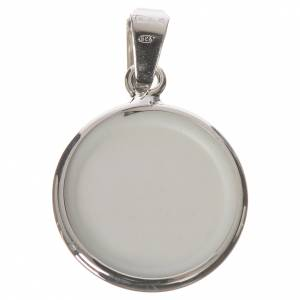 Round medal in silver, 18mm Saint Anthony s2