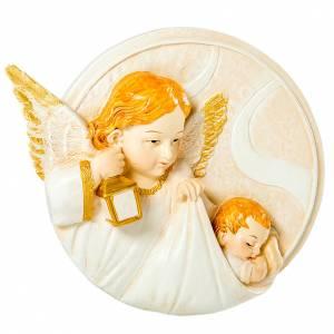 Bonbonnière: Round painting Angel 7cm