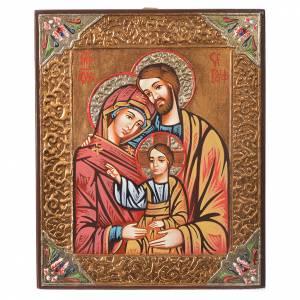 Handgemalte rumänische Ikonen: Rumänische Ikone Heilige Familie
