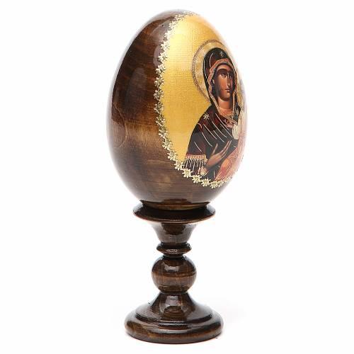 Russian Egg Mother of God Iverskaya découpage 13cm s4