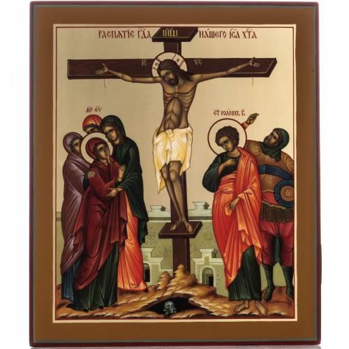 Russian icon, Crucifixion 22x27cm s1