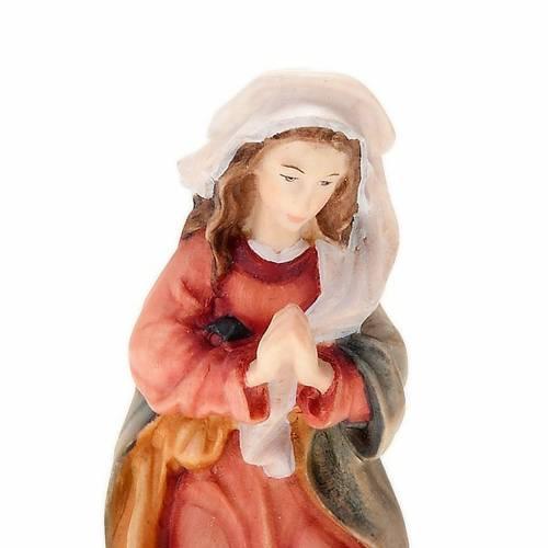 Natività 11 cm in legno dipinta a mano s3