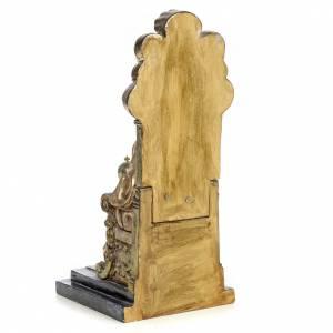 Sacré-Coeur Jésus 25 cm pâte à bois finition polychrome s3