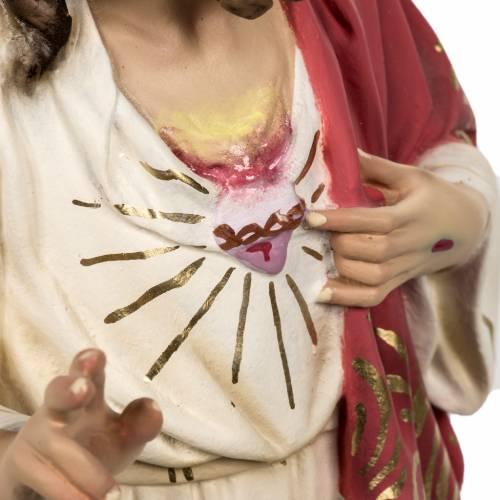 Sacré Coeur de Jésus 80cm pâte à bois s5