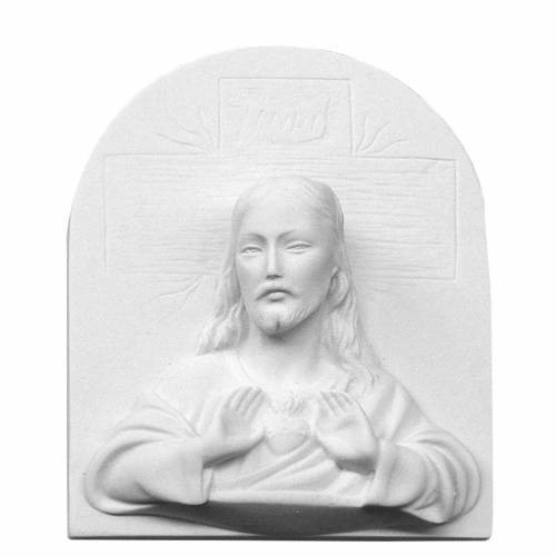 Sagrado Corazón de Jesús 16 cm,  en relieve s1