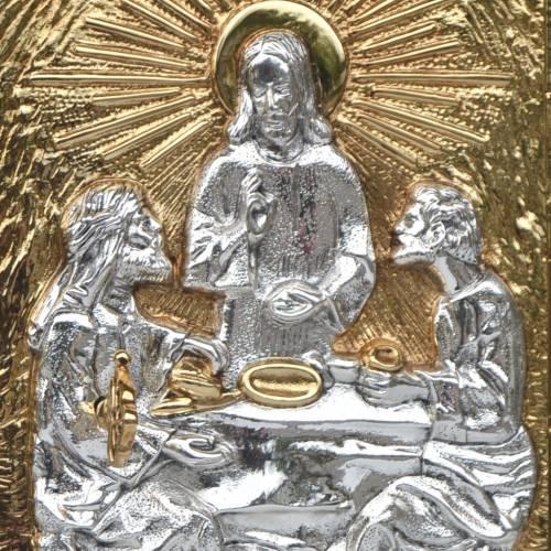 Sagrario de mesa madera y puerta latón Cena de Emaús s2