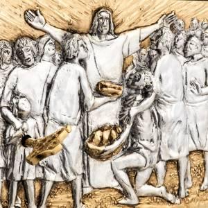 Sagrario de mesa, Multiplicación de los panes y los peces madera s2