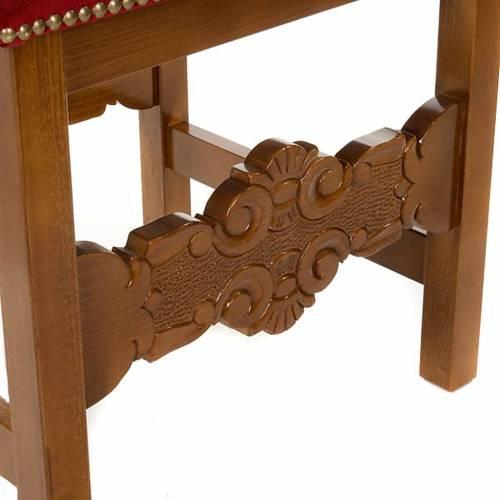 Sgabello barocco sagrestia legno noce velluto s3