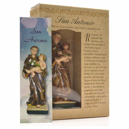 Saint Anthony of Padua 12cm with Spanish prayer s3