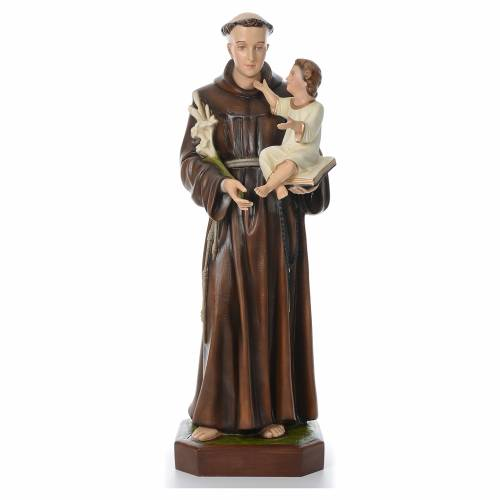 Saint Anthony of Padua, statue in coloured fiberglass, 130cm s1