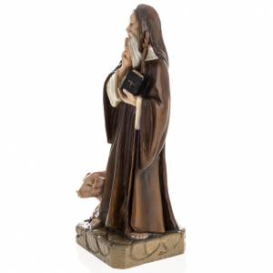 Saint Anthony the Abbot, 35 cm in painted Reconstituted marble s4
