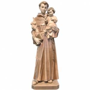 Saint Antoine avec Enfant bois Valgardena patiné multinuance s1
