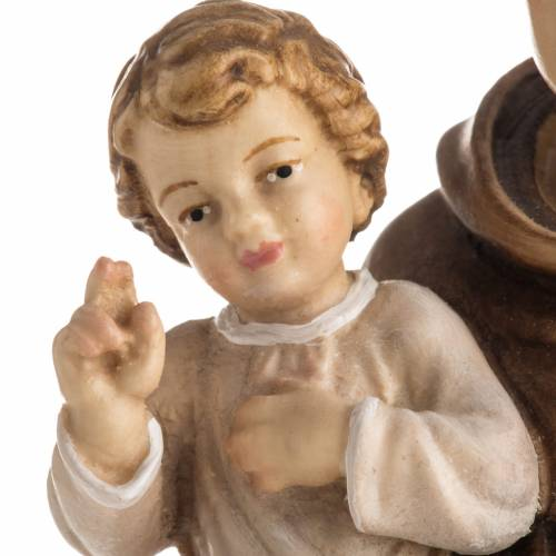 Saint Antony with Child wooden statue painted s6