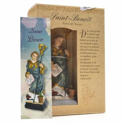 Saint Benedict 12cm with French prayer s3