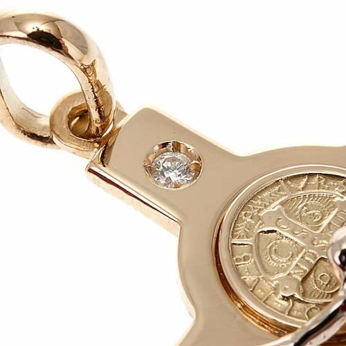 Saint Benedict cross 18K gold and diamond s2