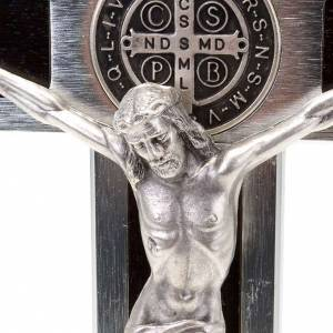 Saint Benedict crosses: Saint Benedict cross with wood inlays 25x12.5