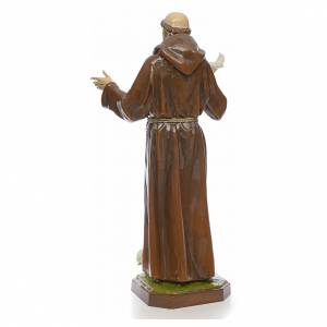 Saint Francis statue in fiberglass 170cm for outdoor use s3