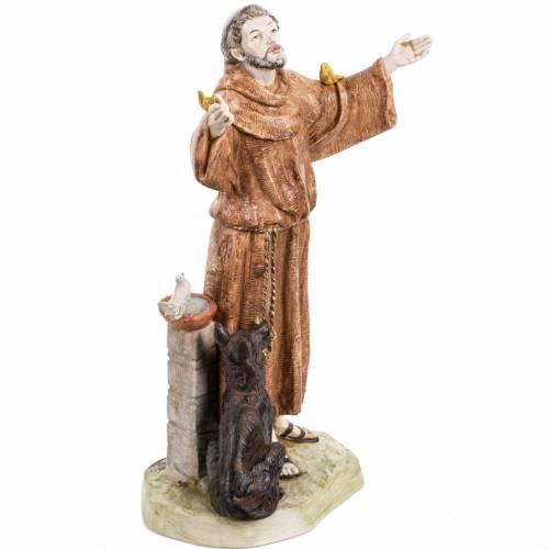 Saint François de Assisi 30 cm Fontanini finition porcela s2
