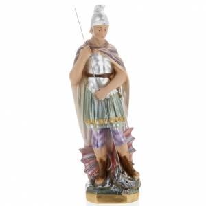 Saint George statue in plaster, 30 cm s1