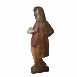 Saint Jean Baptiste 89 cm bois peint Bethléem s4