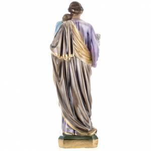 Saint Joseph and Jesus infant statue in plaster, 50 cm s5