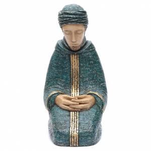 Crèches Monastère de Bethléem: Saint Joseph bleu Nativité paysanne Bethléem