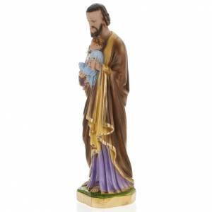 Saint Joseph statue in plaster, 60 cm s4