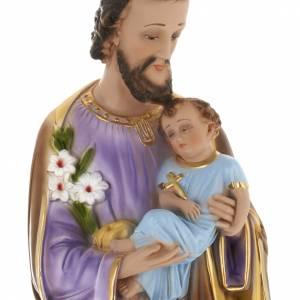 Saint Joseph statue in plaster, 60 cm s2
