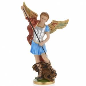 Saint Michael Archangel statue in plaster, 40 cm s1