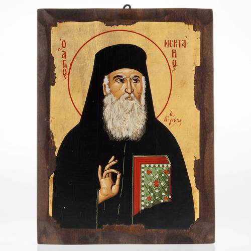 Saint Nectarios icon, Greece, silkscreen printing s1