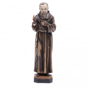Holy Statues in resin & PVC: Saint Pio of Pietrelcina statue 30 cm resin