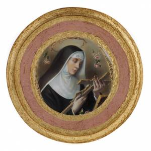 Saint Rita picture on round wood panel s2