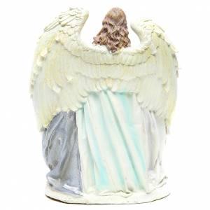 Sainte Famille avec ange 31 cm résine fin. White s3