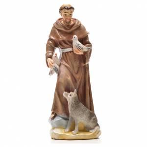 San Francesco d'Assisi 12 cm con immaginetta PREGHIERA INGLESE s1