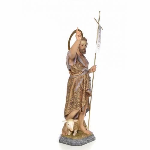San Giovanni Battista 80 cm pasta di legno dec. elegante s4