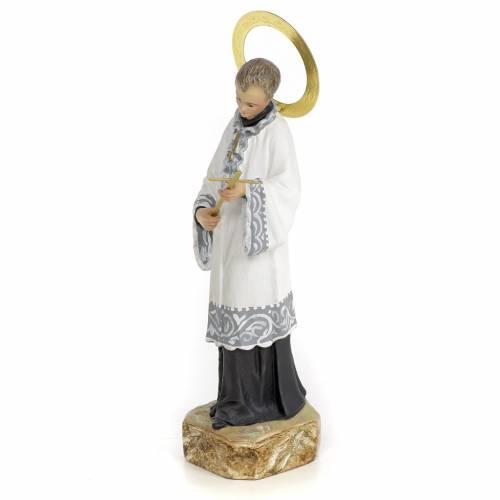 San Luigi Gonzaga 20 cm pasta di legno dec. elegante s2
