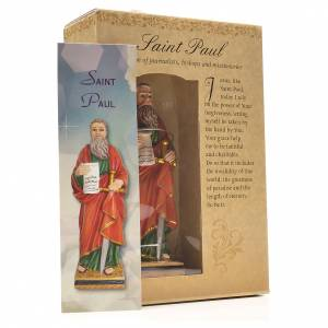 San Pablo 12cm con imagen y oración en Ingles s3